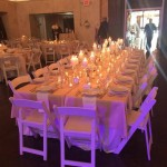 Tuscan style head table (significant others of wedding party included).